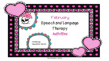 February Speech and Language Activities
