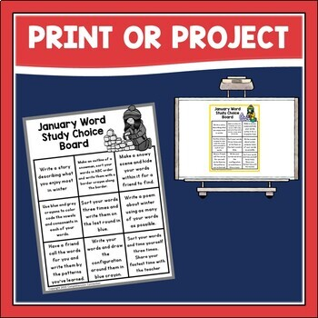 Word Study Choice Boards by Comprehension Connection   TpT