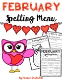 February Spelling Menu (NO PREP!)