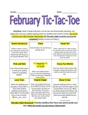 February Spelling Tic-Tac Toe Packet