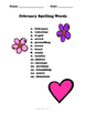 February Spelling Words & Activities Grades 3-5