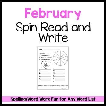 February Spin Read Write FREEBIE