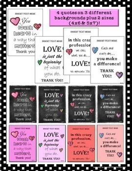 Teacher Appreciation/Staff Gift: Personalized Quote {EDITABLE}