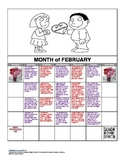 February Story Problem Calendar (All About Time)