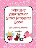 February Subtraction Story Problems Book