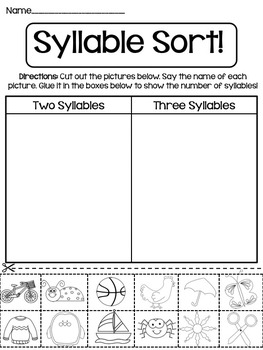 Syllable Worksheets (2)