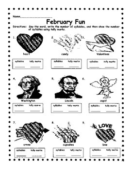 February Syllables and Tally Marks