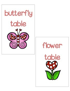 February Table Signs