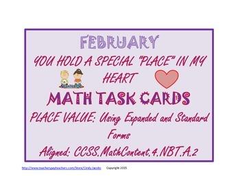 February Task Cards February Math Activity Valentine's Day