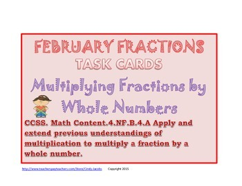 February Task Cards Math Task Cards Valentine's Day