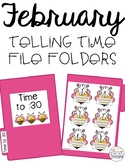 February Telling Time File Folders for Special Education