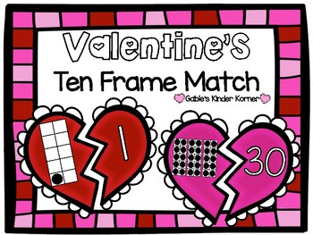 February Ten Frame Match Numbers 1-30!