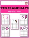 February Ten Frame Mats 1-20