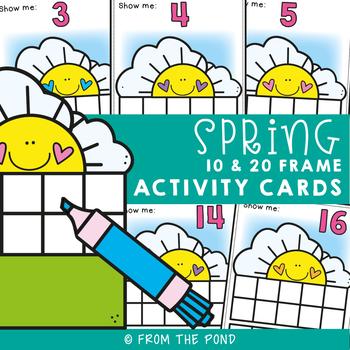 February Ten and Twenty Frame Activity Cards