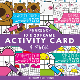 February Ten and Twenty Frame Activity Cards