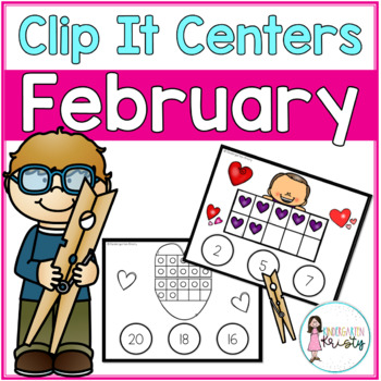 February Tens Frame Clip It Centers