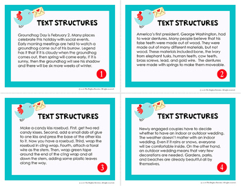 February Text Structures Task Cards