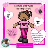 February Daily Work for 3rd Grade: Skill Review for Math & ELA