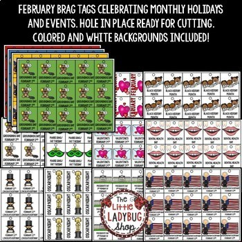 February Brag Tags [Valentine's Day, Black History Month & more]