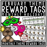 February Reward Tags - Classroom Management Reward Coupon Tags