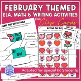 February Themed Adapted Unit for ELA, Writing and Math in SpEd or Autism Units