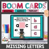 February Themed Alphabet Practice Boom Cards