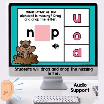 Alphabet Practice Boom Cards February