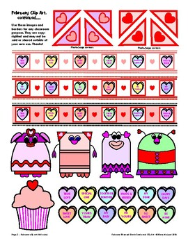 February Blank Forms, Cards, Letterhead, and Clip Art - a packed file!!