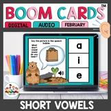 February Themed CVC Word Practice Boom Cards
