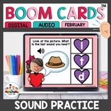 February Themed Ending and Beginning Sounds Boom Cards