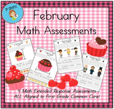 February-Themed First Grade Math Extended Response Bundle