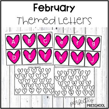 February Themed Sensory Bin Letters