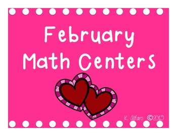 February Themed Math Centers