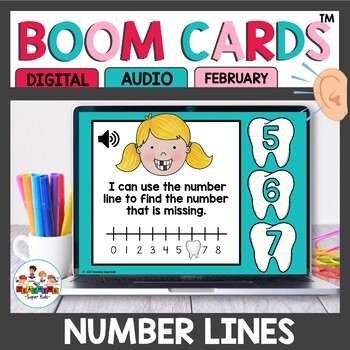 February Themed Number Line Practice Boom