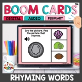 February Themed Rhyming Words Boom Cards