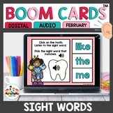 February Themed Sight Word Practice Boom Cards