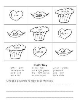 February Themed Word Activities