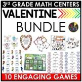 Valentine's Day Math - Valentine's Day 3rd Grade Math Centers BUNDLE