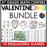 Valentine's Day Math - Valentine's Day 3rd Grade Math Centers BUNDLE