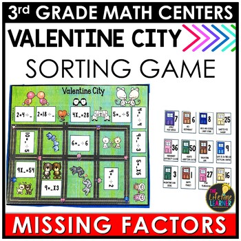 Missing Factors February Math Center