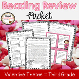 February Third Grade Reading Review Packet - Valentine The