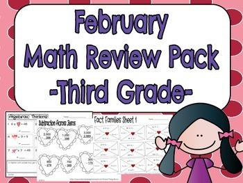 Math Printables-February