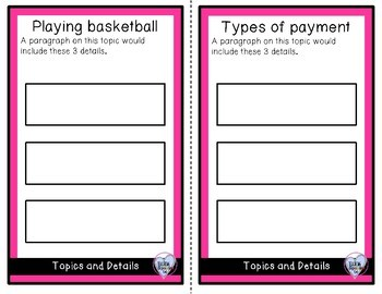February Topic and Detail Cards