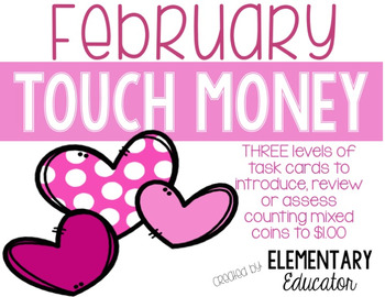 February Touch Money Task Cards