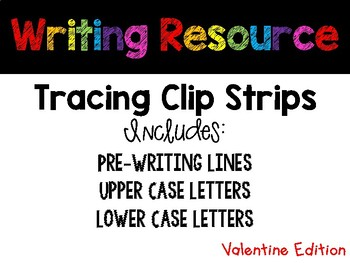 February Tracing Strips