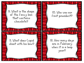 February Trivia Cards