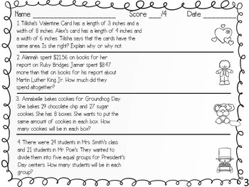 Two-Step Math Problems for February