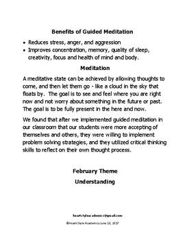 February Understanding Guided Meditation