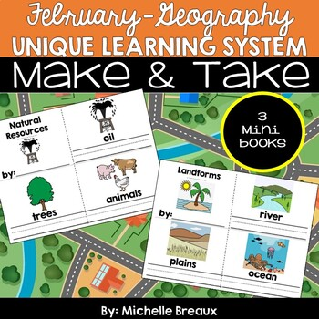 February Unique Learning System Make & Take Books (Geography)