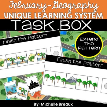 February Unique Learning System Task Box- Extending Patterns (SPED, Autism)